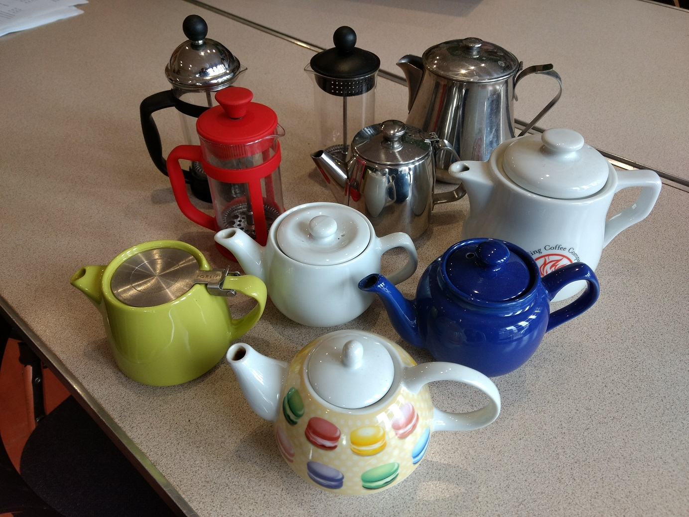 Tea and coffee pots